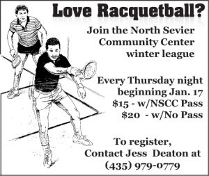 Advertisement design by Graphic Artist Dallas Price for North Sevier Community Center. Published in The Richfield Reaper 01/09/2013.