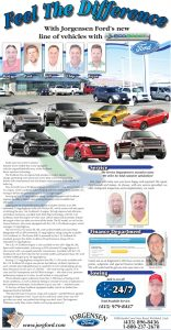 Advertisement design by Graphic Artist Dallas Price for Jorgensen Ford. Published in The Richfield Reaper 01/30/2013.