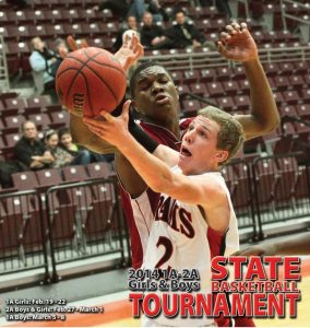 Cover design by Graphic Artist Dallas Price for The Richfield Reaper State Basketball Tournament section published 02/12/2014.