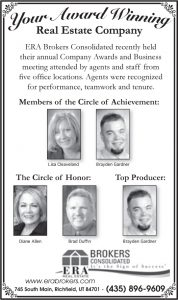Advertisement design by Graphic Artist Dallas Price for ERA Brokers. Published in The Richfield Reaper 02/13/2013.