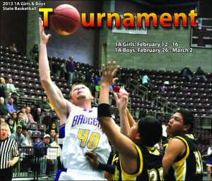 Cover design by Graphic Artist Dallas Price for The Richfield Reaper State Basketball Tournament section published 02/13/2013.