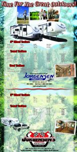 Advertisement design by Graphic Artist Dallas Price for Jorgensens. Published in The Richfield Reaper 04/03/2013.