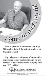 Advertisement design by Graphic Artist Dallas Price for Classic Motors. Published in The Richfield Reaper 04/09/2014.
