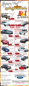 Advertisement design by Graphic Artist Dallas Price for Jorgensen Ford. Published in The Richfield Reaper 04/17/2013.
