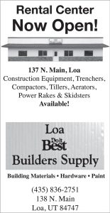 Advertisement design by Graphic Artist Dallas Price for Loa Builders Supply. Published in The Richfield Reaper 04/24/2013.