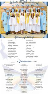 Piute High School Graduation page designed by Graphic Artist Dallas Price. Published in The Richfield Reaper 05/15/2013.