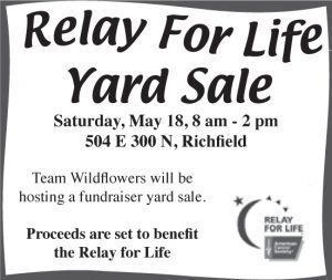 Advertisement design by Graphic Artist Dallas Price for Relay for Life. Published in The Richfield Reaper 05/15/2013.
