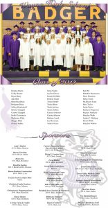 Graduation page designed by Graphic Artist Dallas Price for the 2014 graduates of Wayne High School. Published in The Richfield Reaper 05/21/2014.