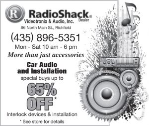 Advertisement design by Graphic Artist Dallas Price for Radio Shack. Published in The Richfield Reaper 05/22/2013.