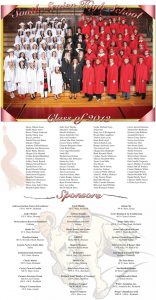 South Sevier High School Graduation page designed by Graphic Artist Dallas Price. Published in The Richfield Reaper 05/22/2013.