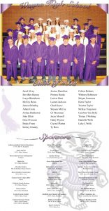 Wayne County High School Graduation page designed by Graphic Artist Dallas Price. Published in The Richfield Reaper 05/22/2013.