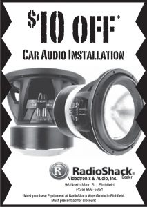 Advertisement design by Graphic Designer Dallas Price for RadioShack. Published in The Richfield Reaper 05/28/2014.
