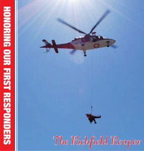 Cover design by Graphic Artist Dallas Price for The Richfield Reaper Honoring Our First Responders published 06/12/2013.
