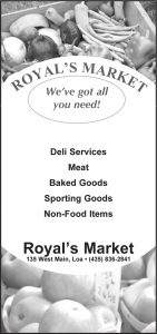 Advertisement design by Graphic Artist Dallas Price for Royal's Market. Published in The Richfield Reaper 08/07/2013.
