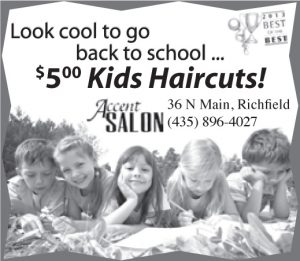 Advertisement design by Graphic Artist Dallas Price for Accent Salon. Published in The Richfield Reaper 08/21/2013.