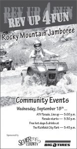 Advertisement design by Graphic Artist Dallas Price for Rocky Mountain Jamboree. Published in The Richfield Reaper 09/18/2013.