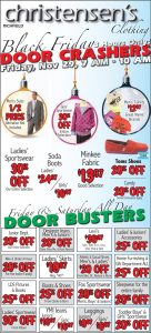 Advertisement design by Graphic Artist Dallas Price for Christensen's Clothing. Published in The Richfield Reaper 11/27/2013.