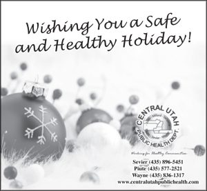 Advertisement design by Graphic Artist Dallas Price for Central Utah Public Health. Published in The Richfield Reaper 12/18/2013.