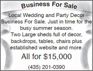 Advertisement design by Graphic Artist Dallas Price for the Hendersons. Published in The Richfield Reaper 03/28/12