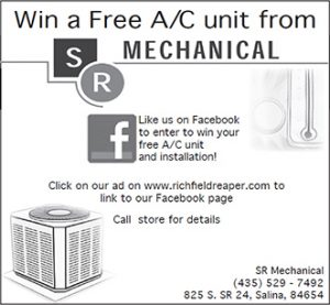 Advertisement design by Graphic Artist Dallas Price for SR Mechanical. Published in The Richfield Reaper 04/04/2012.