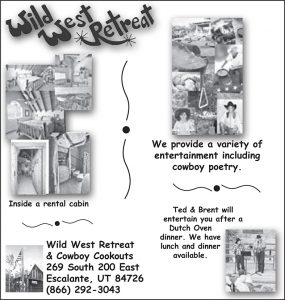 Advertisement design by Graphic Artist Dallas Price for Wild West Retreat. Published in The Richfield Reaper 06/13/2012.
