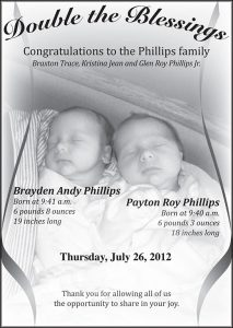 Advertisement design by Graphic Artist Dallas Price for Sandy Phillips. Published in The Richfield Reaper 08/01/2012.