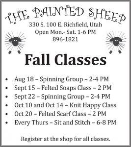 Advertisement design by Graphic Artist Dallas Price for The Painted Sheep. Published in The Richfield Reaper 08/15/2012.