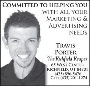 Advertisement design by Graphic Artist Dallas Price for Reaper salesman Travis Porter. Published 10/24/2012.