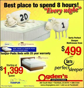 Advertisement design by Graphic Artist Dallas Price for Ogden's Superstore. Published in The Richfield Reaper 10/24/2012.