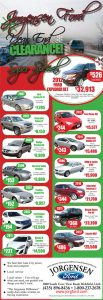Advertisement design by Graphic Artist Dallas Price for Jorgensen Ford. Published in The Richfield Reaper 12/12/2012.
