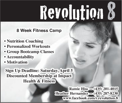 Advertisment design by Graphic Artist Dallas Price for Revolution 8. Published in The Richfield Reaper 03/12/2014