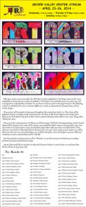 Advertisement design by Graphic Artist Dallas Price for The Commisoners Art Show. Published in The Richfield Reaper 04/16/2014.