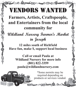 Advertisement design by Graphic Artist Dallas Price for Wildland Nursery. Published in The Richfield Reaper 04/16/2014.