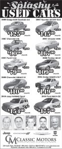 Advertisement design by Graphic Artist Dallas Price for Classic Motors. Published in The Richfield Reaper 04/23/2014.