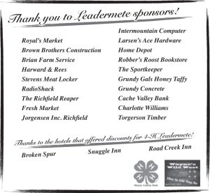 Advertisement design by Graphic Artist Dallas Price for Leadermete. Published in The Richfield Reaper 04/23/2014.