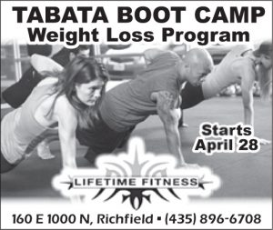 Advertisement design by Graphic Artist Dallas Price for Lifetime Fitness. Published in The Richfield Reaper 04/23/2014.
