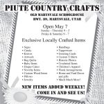 Advertisement design by Graphic Artist Dallas Price for Piute Country Crafts. Published in The Richfield Reaper 04/30/2014.