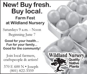 Advertisement design by Graphic Artist Dallas Price for Wildland Nursery. Published in The Richfield Reaper 05/07/2014.