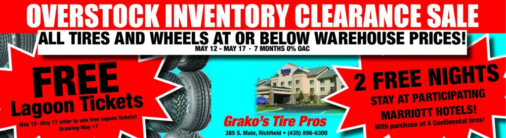 Advertisement design by Graphic Artist Dallas Price for Grako's. Published in The Richfield Reaper 05/24/2014.