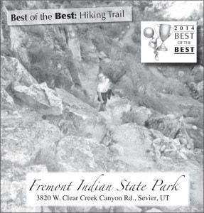 Advertisement design by Graphic Designer Dallas Price for Fremont Indian State Park. Published in The Richfield Reaper 06/04/14.