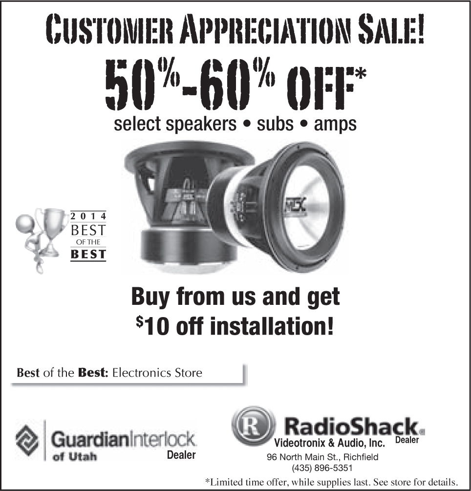 Advertisement design by Graphic Designer Dallas Price for RadioShack. Published in The Richfield Reaper 06/04/14.
