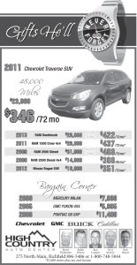Advertisement design by Graphic Designer Dallas Price for Classic Motors. Published in The Richfield Reaper 06/11/2014.