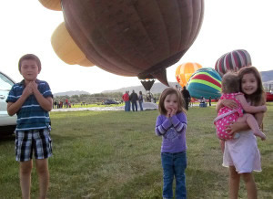 The kids at the Eyes to the Sky balloon launch 06/21/2014