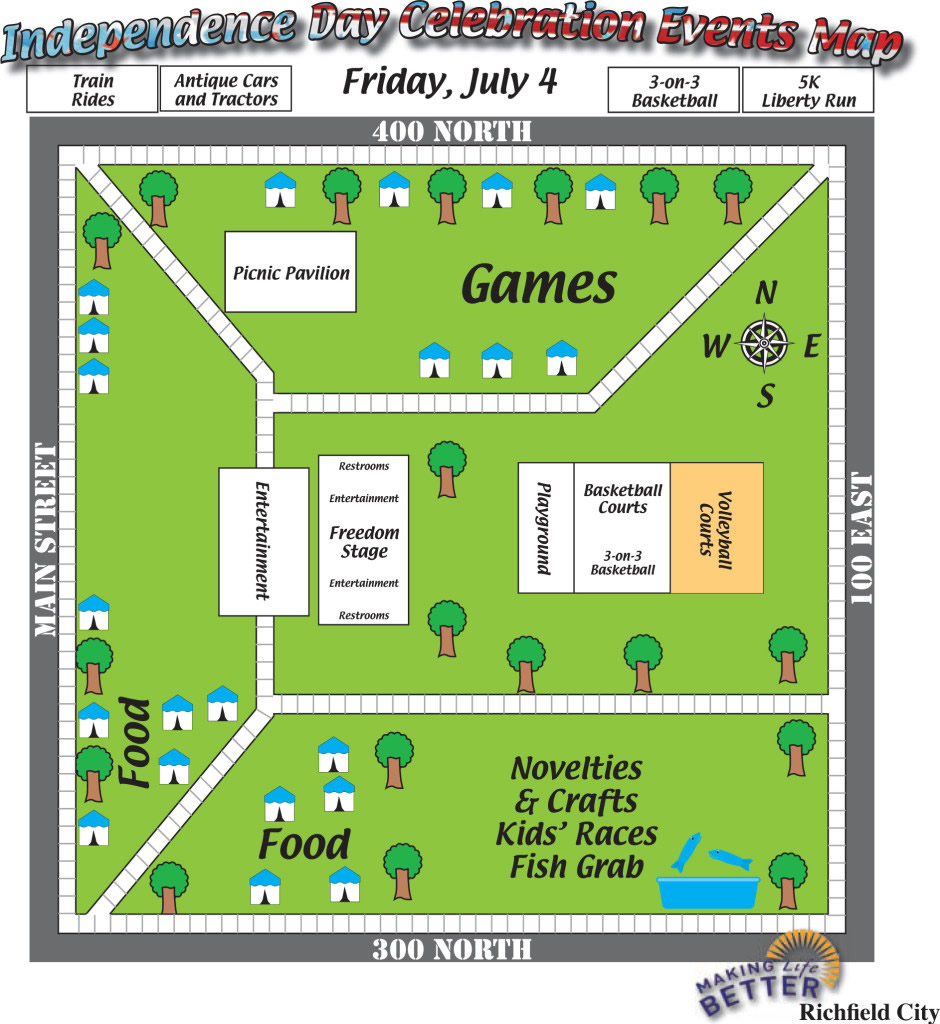 map design by Graphic Designer Dallas Price for Richfield City. Published in The Richfield Reaper 06/25/2014.