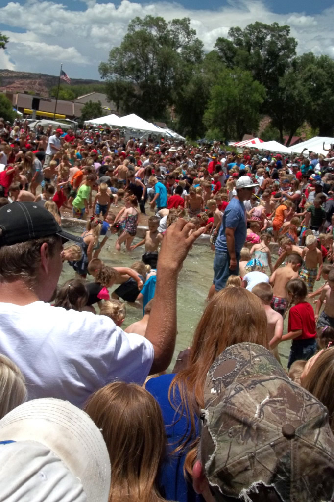Fish grab Richfield 2014 Independence Day