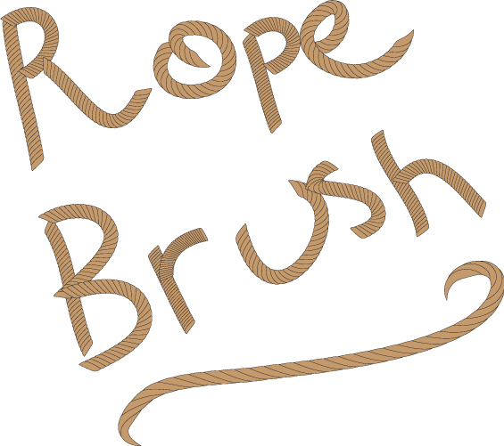 create your own rope brush