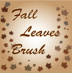 Fall leaves brush AI
