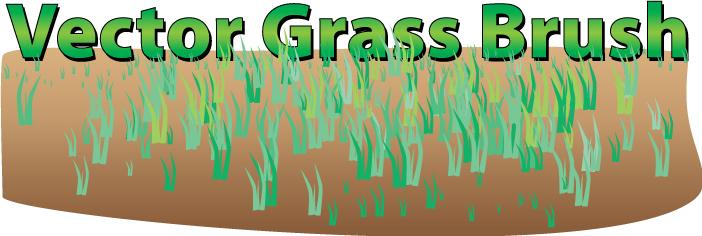 Vector grass brush image