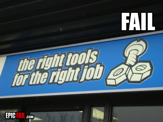 As long as you've got your nuts and bolts or should I say bolt in the right place ... you've got the tools.