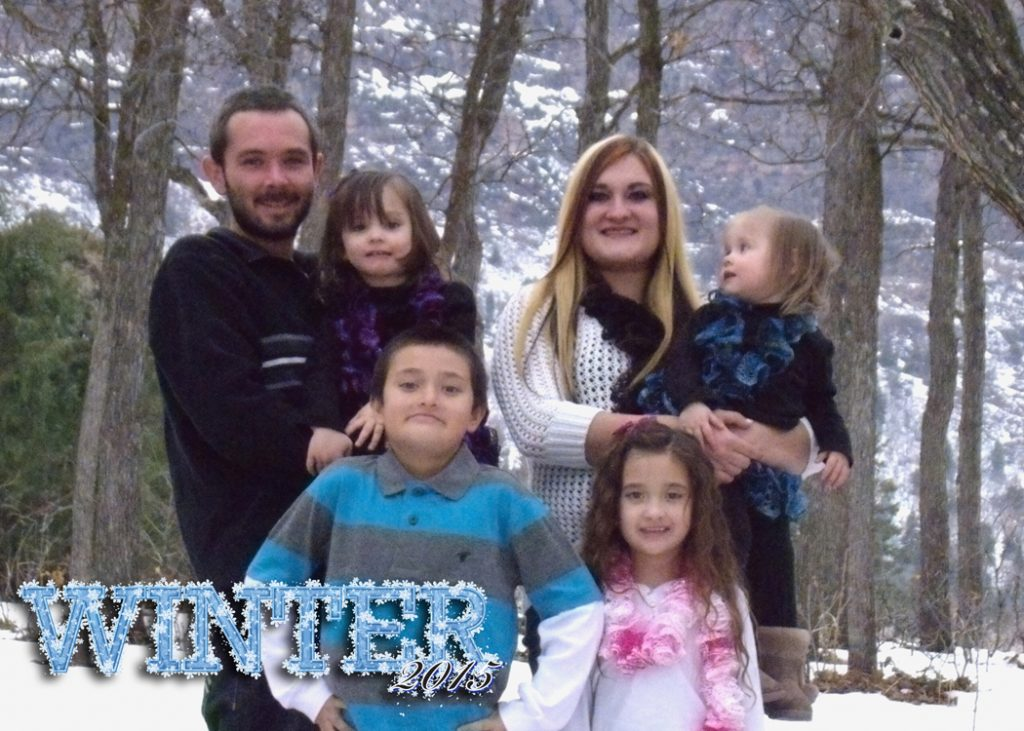 Price family photos Winter 2015 taken at Maple Grove, Utah